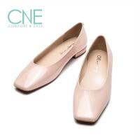 CNE2019春夏新款温柔鞋方头拼接芭蕾舞鞋奶奶鞋女单鞋AM18203