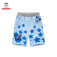 巴布豆童装男童五分裤短裤儿童外穿休闲运动裤夏季新款韩版潮