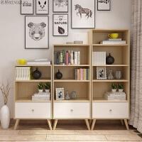 北欧书柜书架小置物架简约现代创意学生卧室简易自由组合落地