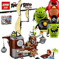 19005电影愤怒的小鸟猪猪海盗船拼装积木人仔 儿童益智玩具