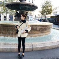棉衣服2018新款女冬装棉袄 韩版休闲夹棉冬季外套冬女加厚 杏色