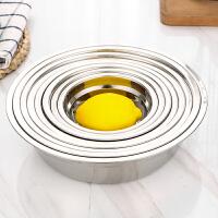 不锈钢家用快餐盘汤盆盘子学生餐盘不锈钢盆厨房食品级不粘烘焙