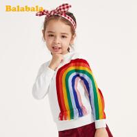 巴拉巴拉童装女童毛衣春季儿童针织套头衫小童宝宝纯棉洋气上衣女