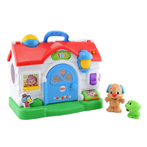 费雪皮皮学习小屋(双语)BLW10 宝宝早教益智多功能学习屋玩具