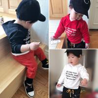 宝宝衣服婴童装2018春季新款 男女小童连帽衫T恤打底上衣套头卫衣