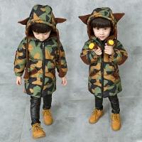 男童装棉衣外套1-2-3-4-5岁加厚棉袄小男孩羽绒迷彩上衣潮