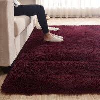 北欧丝毛客厅沙发茶几地毯卧室可爱房间床边毯满铺榻榻米定制