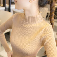 半高领毛衣内搭长袖打底衫女秋冬款洋气上衣打底针织衫