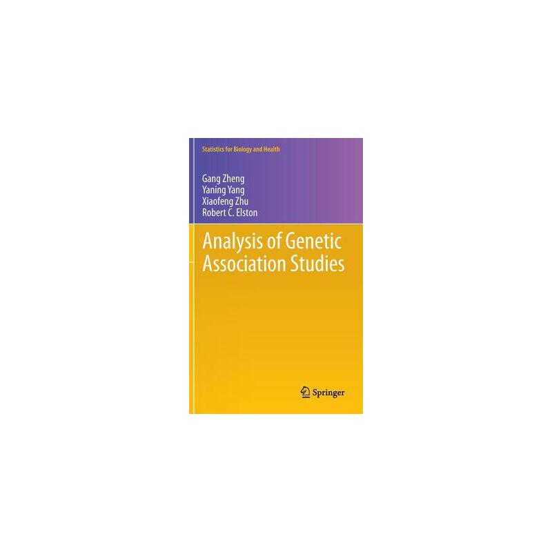 【预订】Analysis of Genetic Association Studies 预订商品,需要1-3个月发货,非质量问题不接受退换货。