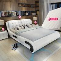床双人床1.8米现代简约主卧榻榻米床1.5米欧式储物家具