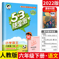 53随堂测六年级下册语文 人教部编版6年级下册语文辅导书资料书 建议搭配《53天天练》小儿郎