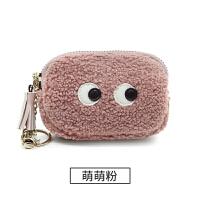 ?小零钱包女拉链布艺韩国迷你可爱小方包毛绒零钱袋硬币包?