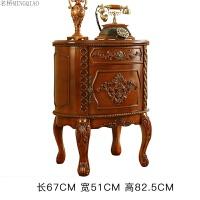 家具美式床头柜实木 复古欧式床头柜卧室柜子橡木储物柜 整装