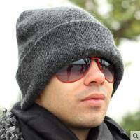 冬天羊毛针织帽双层加厚男士帽子冬款防寒保暖护耳毛线帽