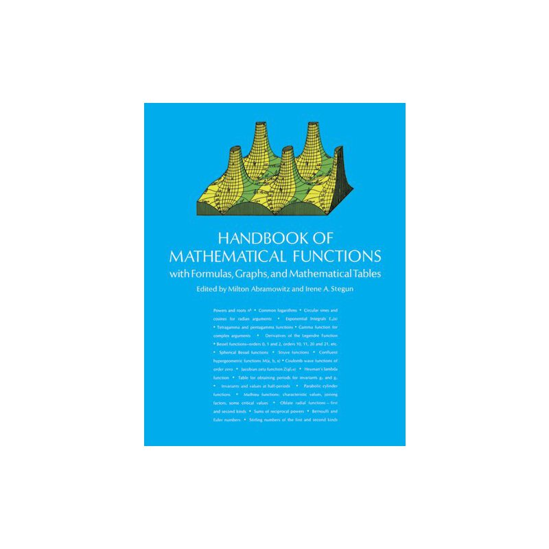 Handbook of Mathematical Functions: with Formulas, Graphs, and Mathematical Tables (Dover Books on Mathematics) [ISBN: 978-0486612720] 美国发货无法退货,约五到八周到货