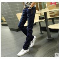 男士小脚直筒牛仔裤薄款 韩版 修身青少 年男长裤子潮流