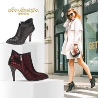 金粉世家 红蜻蜓旗下 秋季新品深口细跟时尚时装高跟鞋窝窝鞋女鞋
