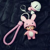 钥匙扣 韩国卡通蒙奇奇钥匙扣链圈女男情侣创意可爱汽车包包挂件生日礼物