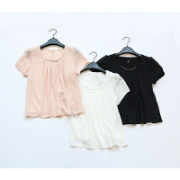 K235特日单品牌夏款订单客供面料日式雪纺衫