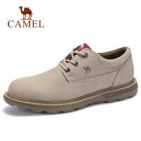 camel骆驼男鞋 秋季新品牛皮磨砂短靴时尚马丁靴户外休闲男鞋子