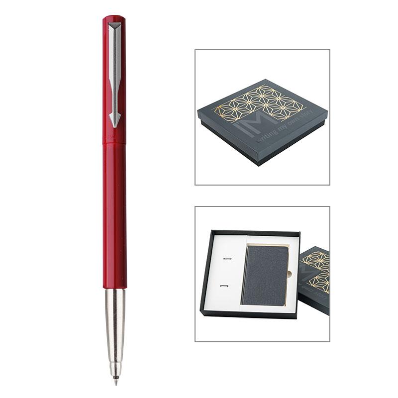 PARKER 派克威雅红色胶杆宝珠笔/星梦奇缘笔记本礼盒当当自营轻奢配件 精致生活之选 闪电发货