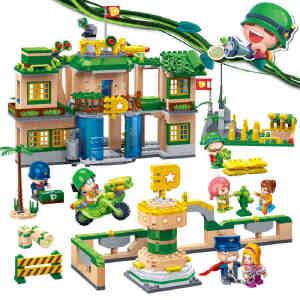 【当当自营】邦宝益智拼装小颗粒积木儿童玩具礼物正版炮炮兵大本营BB6220