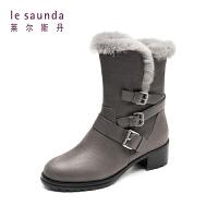 莱尔斯丹 商场同款加绒雪地靴保暖时尚女靴 9T50103F