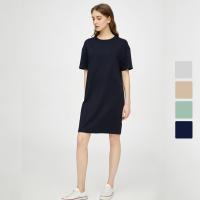 网易严选 女式圆领短袖T恤式连衣裙