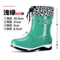 雨鞋女加绒保暖时尚短筒成人雨靴女士水靴套鞋防水鞋子