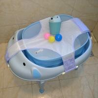 小狗折叠浴桶定制浴网宝宝浴网可调新生儿童洗澡网沐浴盆澡盆支架
