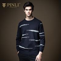 PINLI品立2020秋季新款男装圆领打底套头毛衣针织衫潮B203610591