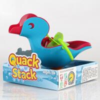 婴幼儿童浴室洗澡戏水玩具漂浮鸭子1-3岁多功能戏水叠叠鸭