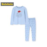 【2件5折价:74.95】巴拉巴拉儿童保暖内衣套装棉中大童圣诞老人加厚男童秋衣秋裤男孩