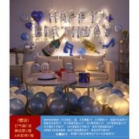 生日快乐party浪漫情侣派对布置套餐铝膜气球字母装饰用品