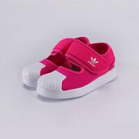 【3折价:149.7元】阿迪达斯(adidas)童鞋2020男女童贝壳头三叶草儿童休闲运动凉鞋FV7585 紫粉