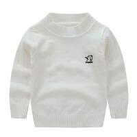 儿童毛衣男女童装纯棉加厚圆领针织衫婴幼儿宝宝套头毛线衣打底衫