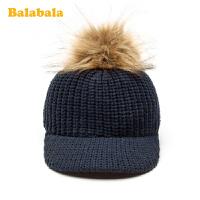 【2件5折价:34.95】巴拉巴拉男童帽子针织冬季新款文艺韩版鸭舌帽儿童保暖棒球帽潮童
