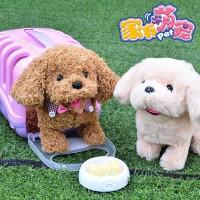 诺拉玩具电动小狗走路会叫摇尾仿真儿童毛绒玩具女孩泰迪可爱狗狗