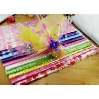 鲜花店透明印花塑料玻璃纸圣诞节包苹果纸包花纸鲜花包装材料配色 40cm*44cm 50*55cm