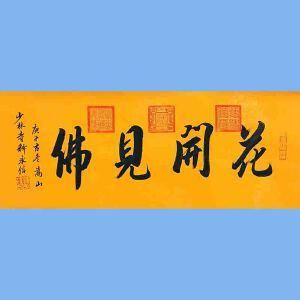 第九十十一十二届全国人大代表,中国佛教协会第十届理事会副会长,少林寺方丈释永信(花开见佛)