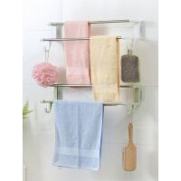 免打孔壁挂毛巾架卫生间手巾架吸盘式浴室厨房抹布架晾毛巾杆双杆