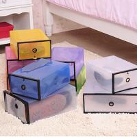 10只装塑料鞋盒透明男女鞋柜加厚组合抽屉式鞋盒子放鞋子的收纳盒多选项选择
