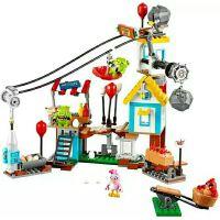 19004 愤怒的小鸟猪城毁灭海盗船拼插人仔积木儿童益智玩具