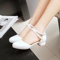 夏季11-13女童高跟凉鞋韩版包头公主鞋大童初中学生小女孩舞蹈鞋 32码 \内长21CM
