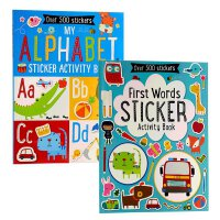 【中商原版】初学字母与单词贴纸书2册 英文原版 First Words Sticker Book