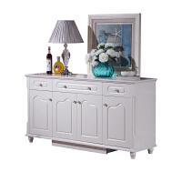 欧式餐边柜酒柜白色烤漆现代简约茶水柜厨房柜子储物柜带门客厅