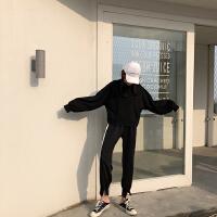 运动服套装女春秋季新款潮韩版宽松卫衣休闲裤时尚俏皮两件套