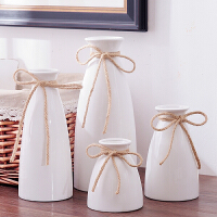 北欧式田园创意小清新陶瓷干花小花瓶文艺现代简约办公室摆设摆件