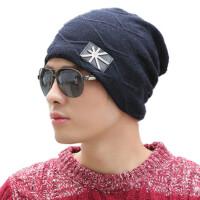 帽子男冬天加绒保暖毛线帽男户外冬季针织帽加厚护耳包头帽