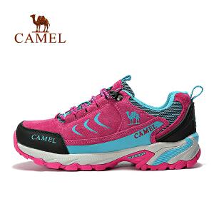 camel骆驼户外情侣款徒步鞋 男女款低帮防滑户外鞋